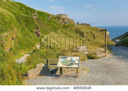 Path to Tintagel Castle Cornwall England