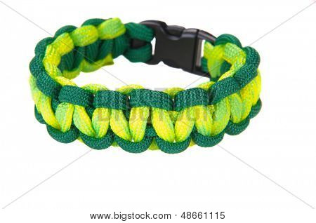 550 Parachute cord (paracord) survival Bracelet using a Cobra weave in the team colors for the Oakland