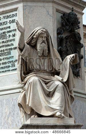Prophet Ezechiel statue in Rome Italy.
