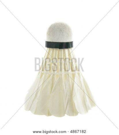One Shuttlecocks For Badminton Isolated Over White Background