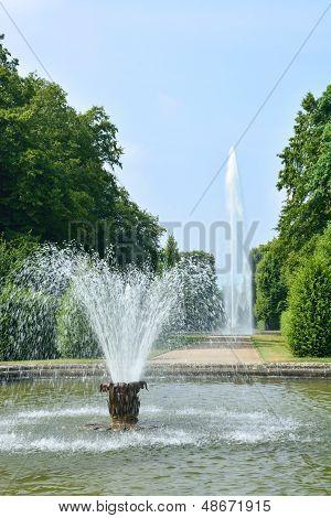 Fountains In Herrenhausen Gardens, Hannover, Germany