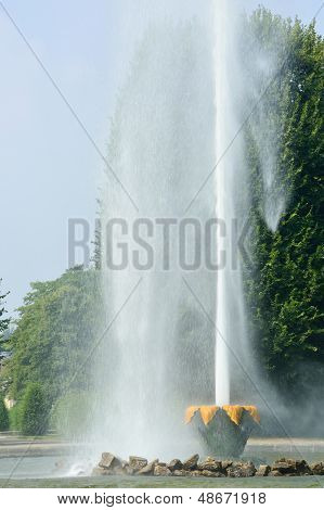 The Great Fountain In Herrenhausen Gardens, Hannover, Germany