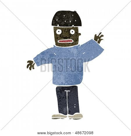 retro cartoon man gesticulating