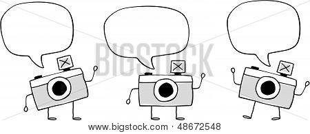 funny camera doodle cartoon