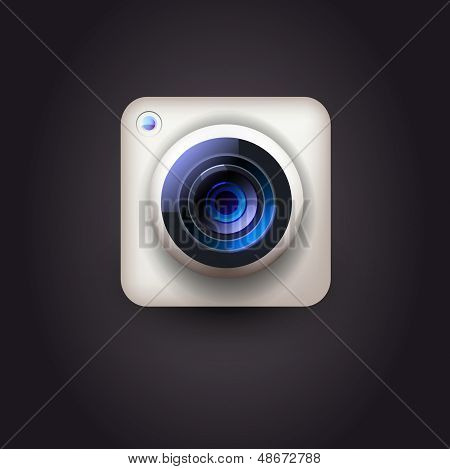 WebUser interface camera lens icon for user interface