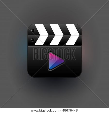 User interface clapboard mediaplayer Icon