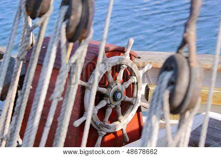 Rudder Of Old Sailing Boat