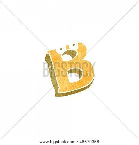 retro cartoon letter b