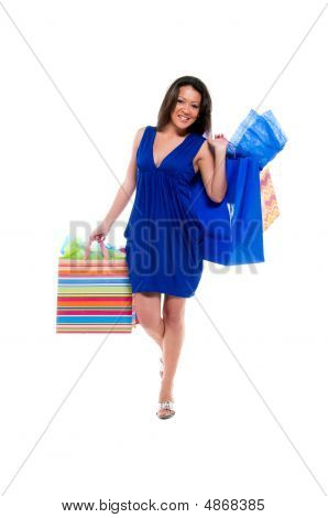 Shopping Bags And Happy