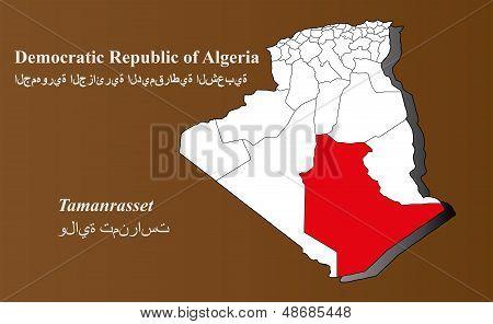 Algeria - Tamanrasset Highlighted
