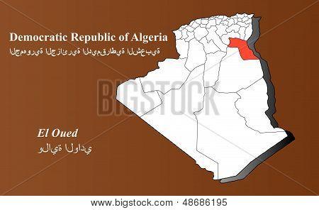 Algeria - El Oued Highlighted