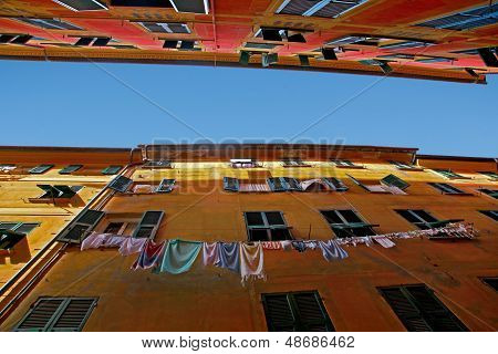 Colourful Mediterranean buildings