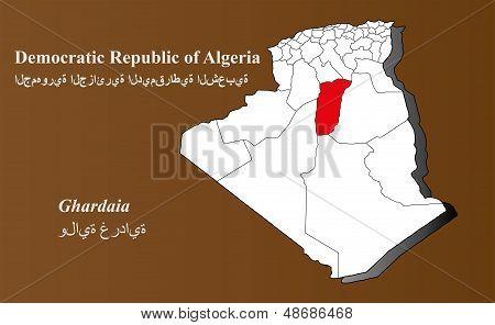 Algeria - Ghardaia Highlighted