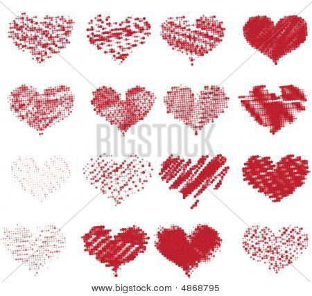 Dotted Valentines (half-tone)