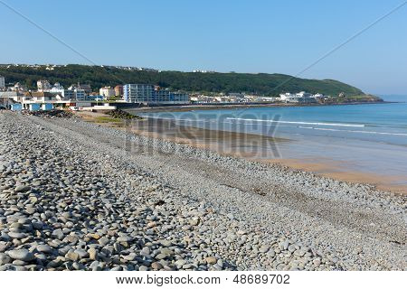 Westward Ho beach Devon England