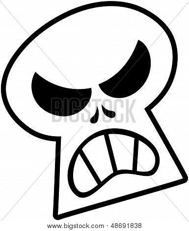 Böse Halloween skull