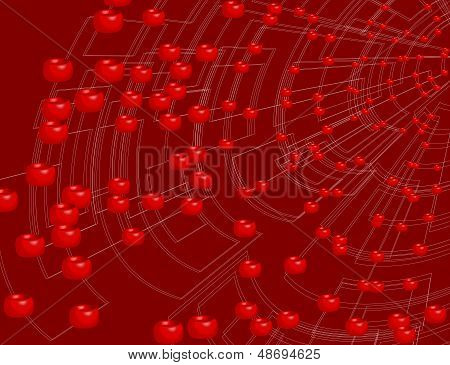 abstract background blood, vector style