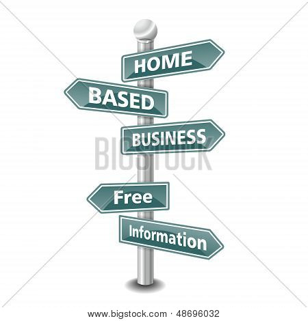 home based business icon as signpost - NEW TOP TREND