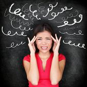 stock photo of chalkboard  - Stress  - JPG