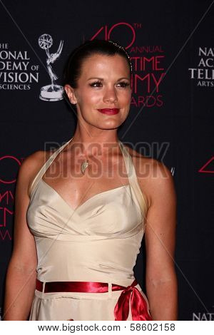 Melissa Claire Egan at the 2013 Daytime Creative Emmys, Bonaventure Hotel, Los Angeles, CA 06-14-13