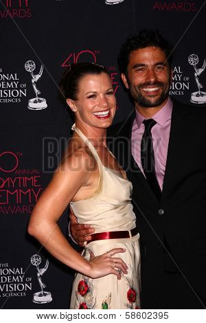 Melissa Claire Egan and Ignacio Serricchio at the 2013 Daytime Creative Emmys, Bonaventure Hotel, Los Angeles, CA 06-14-13