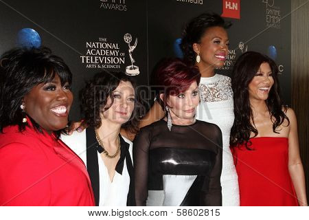 Sheryl Underwood, Sara Gilbert, Sharon Osbourne, Aisha Tyler and Julie Chen at the 40th Annual Daytime Emmy Awards, Beverly Hilton Hotel, Beverly Hills, CA 06-16-13