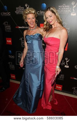 Alley Mills and Jennifer Gareis at the 40th Annual Daytime Emmy Awards, Beverly Hilton Hotel, Beverly Hills, CA 06-16-13