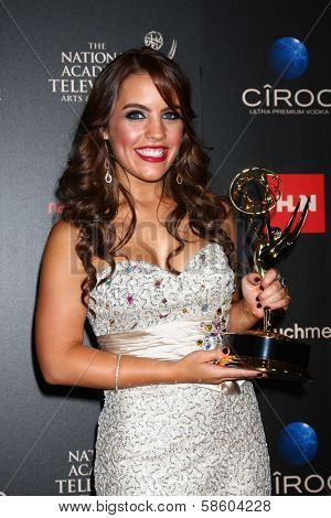 Kristen Aldenson in the 40th Annual Daytime Emmy Awards Press Room, Beverly Hilton, Beverly Hills, CA 06-16-13