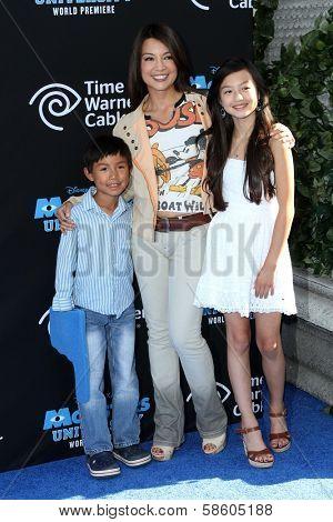 Ming-Na Wen and kids at the