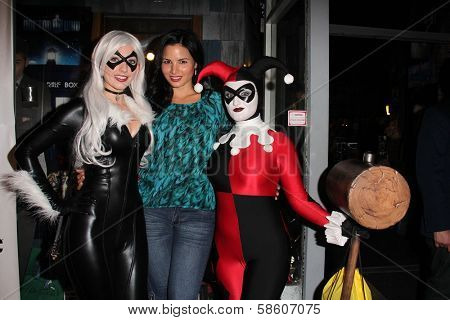 Amanda Lynne, Katrina Law and Lauren Bregman at the Comikaze red carpet Launch Party, Whimsic Alley, Los Angeles, CA 06-21-13