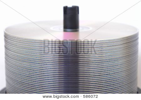 Empty DVD/CD Stack