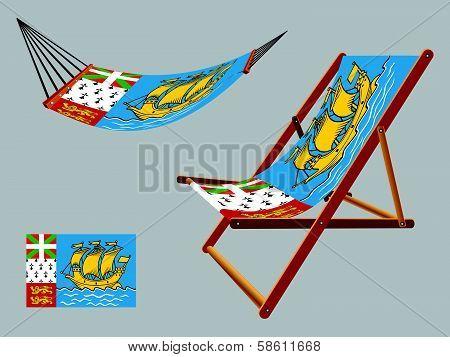 Saint Pierre And Miquelon Hammock And Deck Chair Set