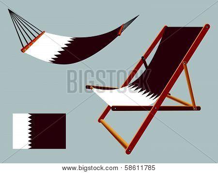 Qatar Hammock And Deck Chair Set