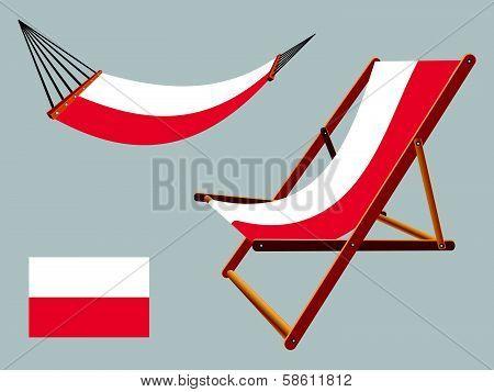 Poland Hammock And Deck Chair Set