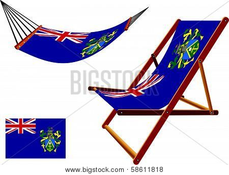 Pitcairn Islands Hammock And Deck Chair Set