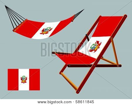 Peru Hammock And Deck Chair Set