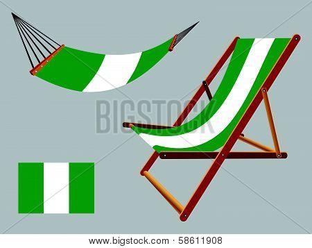 Nigeria Hammock And Deck Chair Set