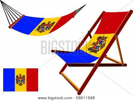 Moldova Hammock And Deck Chair Set