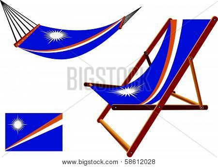 Marshall Islands Hammock And Deck Chair Set