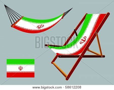 Iran Hammock And Deck Chair Set