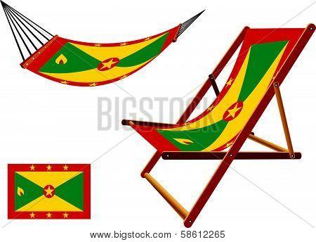 Grenada Hammock And Deck Chair Set