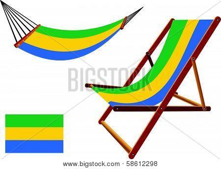 Gabonese Republic Hammock And Deck Chair Set