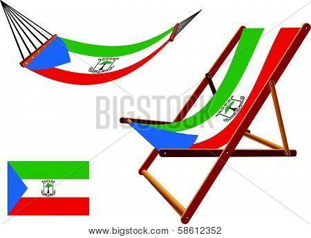 Equatorial Guinea Hammock And Deck Chair Set