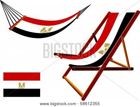 Egypt Hammock And Deck Chair Set