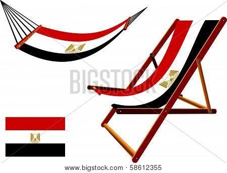Egypt Hammock And Deck Chair Set