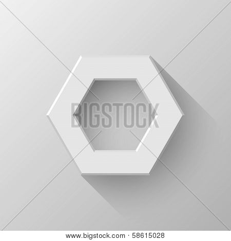 White Abstract Polygon Sign