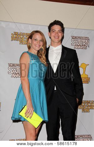 Katie Leclerc and Israel Broussard at the 39th Annual Saturn Awards Press Room, The Castaway, Burbank, CA 06-26-13