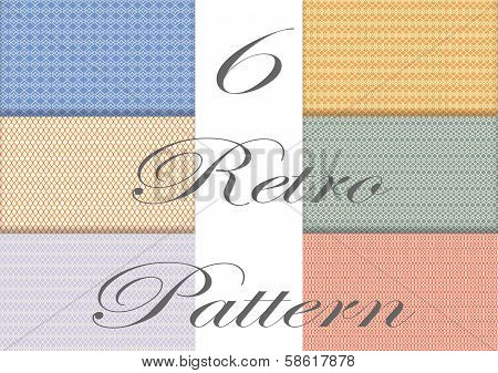 6 In 1 Retro Seamless Pattern