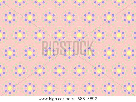 Circle Clasper Pattern On Pastel Color