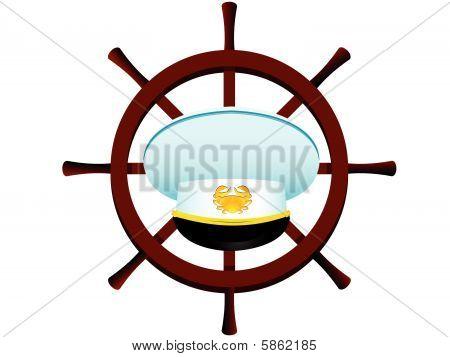 Peak-cap of the captain